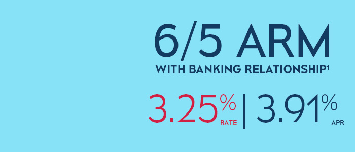 6/5 ARM with Banking Relationship 3.59% Rate | 4.33% APR