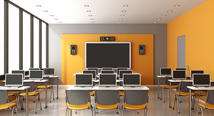 Contemporary multimedia classroom