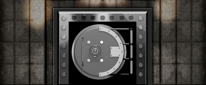 Closed Bank Vault
