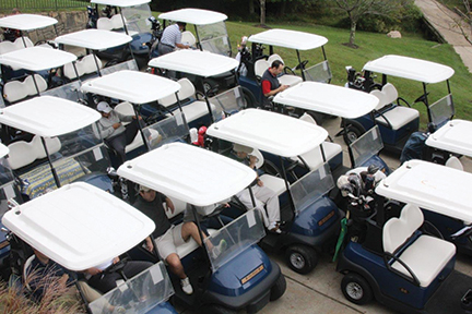 Golf Touranment hosted by community bank as part of community involvement