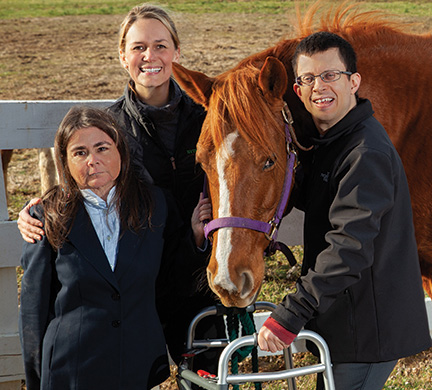 Therapeutic Riding Instructor with Students and Horse as part of community involvement